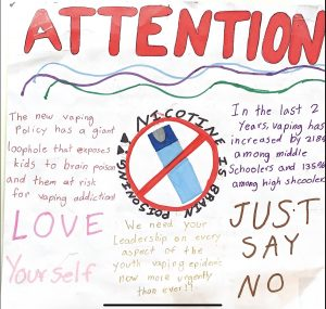 6th grader Lory from Las Colinas Middle School warns her peers about the dangers of drugs and alcohol through this interactive poster.